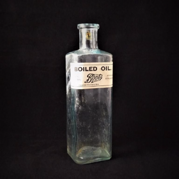 Boots Vintage Boiled Oil Bottle